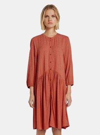 Cihlové dámské šaty Tom Tailor Denim