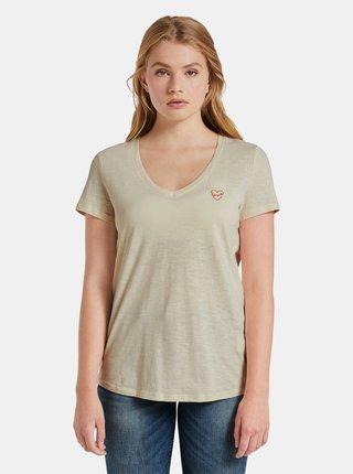 Béžové dámske tričko Tom Tailor Denim