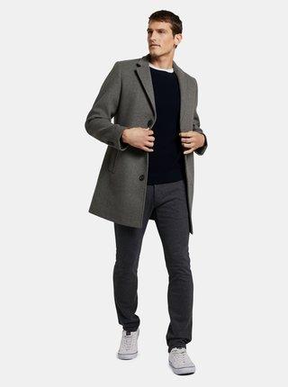 Tmavošedé pánske chino nohavice Tom Tailor