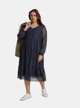 Tmavě modré dámské vzorované šaty My True Me Tom Tailor