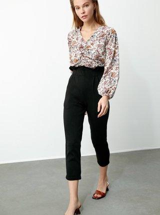 Černé dámské 3/4 kalhoty Trendyol