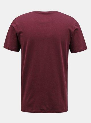 Vínové tričko Jack & Jones Answear
