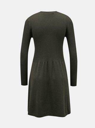 Khaki svetrové šaty ONLY Alma