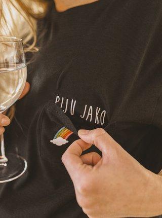 Černé dámské tričko ZOOT Original Piju jako duha