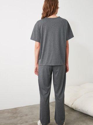 Šedé dámské pyžamo Trendyol