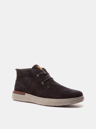 Tmavomodré pánske semišové členkové topánky Wrangler