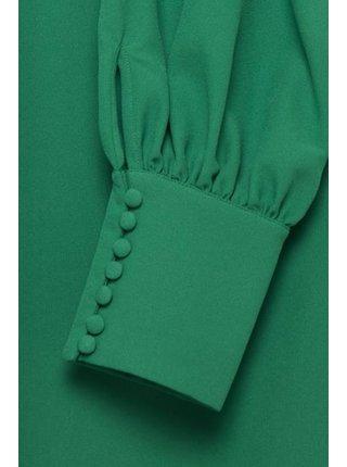 Ichi zelené šaty Ihbelinda DR s dlouhým rukávem