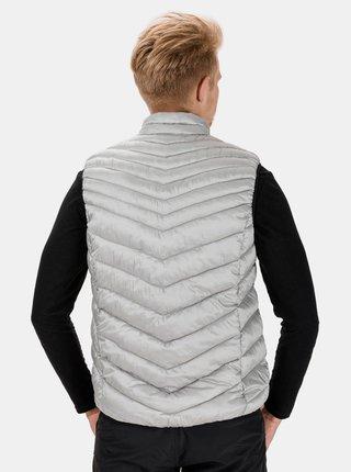 Světle šedá pánská prošívaná vesta SAM 73