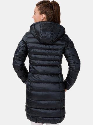 Tmavě modrý dámský zimní prošívaný kabát SAM 73