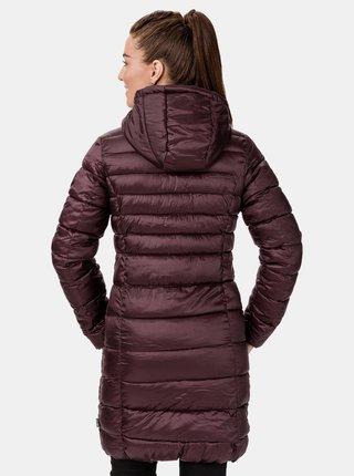 Vínový dámský zimní prošívaný kabát SAM 73 Alexandra