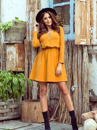Oranžové šaty numoco