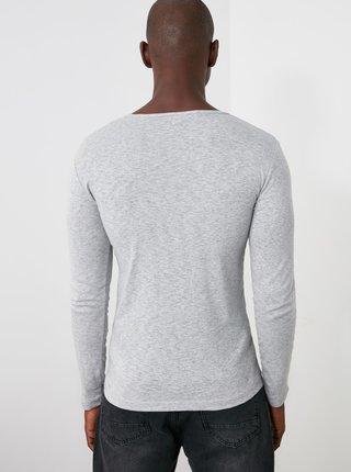 Svetlošedé pánske tričko Trendyol