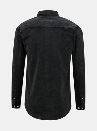 Čierna menčestrová košeľa Redefined Rebel
