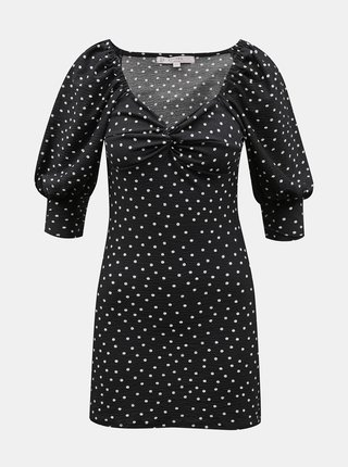 Čierne bodkované šaty Miss Selfridge Petites