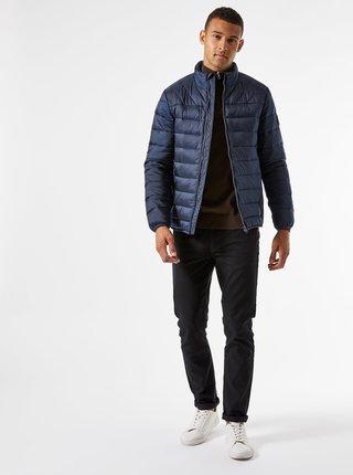 Tmavomodrá prešívaná bunda Burton Menswear London