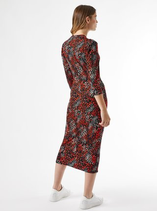 Červeno-čierne vzorované šaty Dorothy Perkins