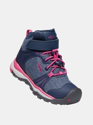 Modré dievčenské členkové topánky Keen