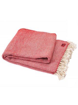 Vlněná deka Perelika merino IV - červená Balkanova