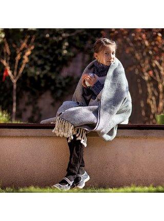 Vlněná deka Perelika merino IV - šedá Balkanova