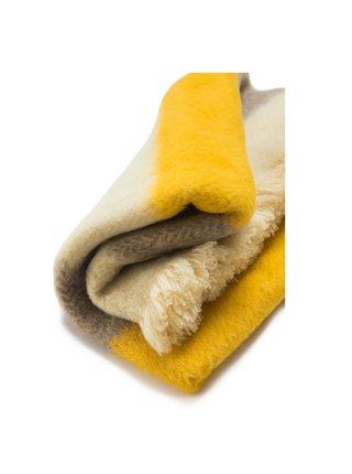 Vlněná deka Karandila XVII se žlutými a šedými pruhy Balkanova