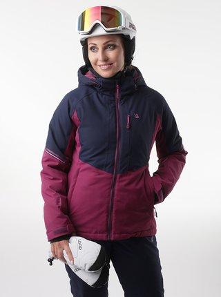 Tmavě modrá dámská lyžařská bunda růžová LOAP Floe