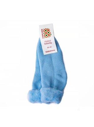 """Vlněné ponožky """"šošonky"""" - světle modré Balkanova"""