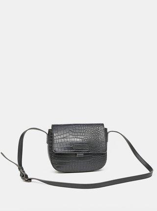 Čierna crossbody kabelka s krokodýlím vzorom Claudia Canova