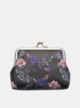 Černá dámská květovaná malá peněženka Clayre & Eef