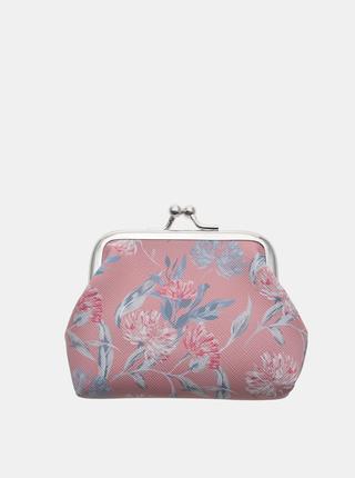 Růžová dámská květovaná malá peněženka Clayre & Eef