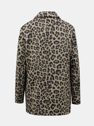 Světle hnědý kabát s leopardím vzorem Dorothy Perkins