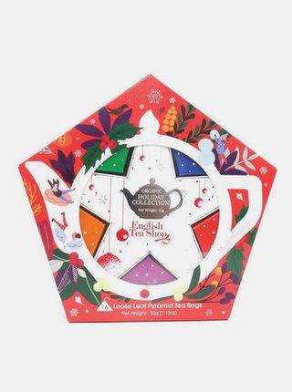 Červená vánoční kolekce čajů English Tea Shop