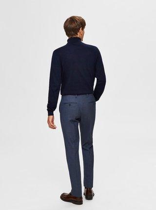 Modré slim fit nohavice Selected Homme Mazelogan