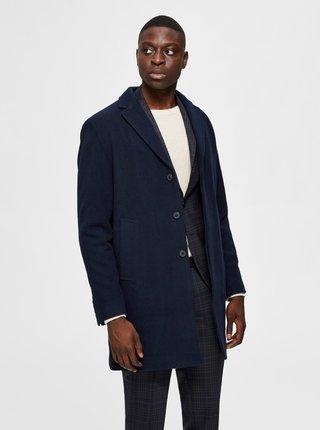 Tmavě modrý vlněný kabát Selected Homme Hagen