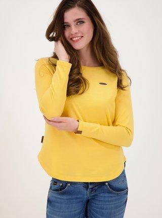 Žluté dámské tričko Alife and Kickin