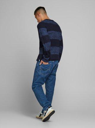 Tmavě modrý vzorovaný svetr Jack & Jones Annel