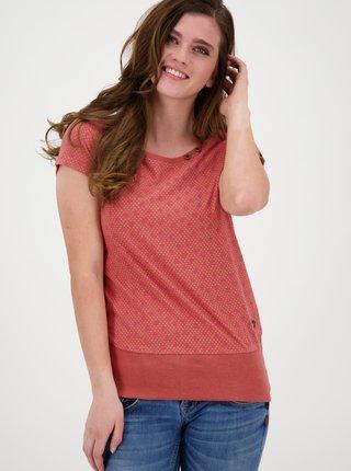 Ružové dámske vzorované tričko Alife and Kickin