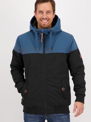 Modro-čierna pánska zimná bunda Alife and Kickin