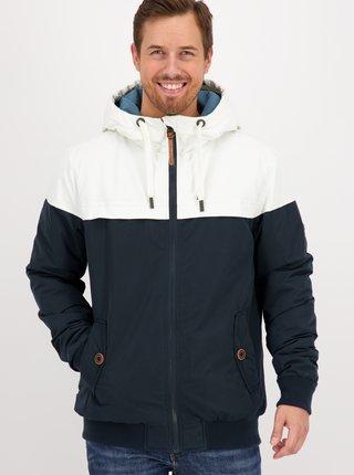 Bielo-modrá pánska zimná bunda Alife and Kickin