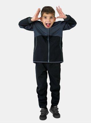 Čierne chlapčenské softshellové nohavice bez zateplenia Unuo Cool