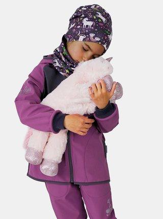 Fialová dievčenská softshellová bunda Unuo