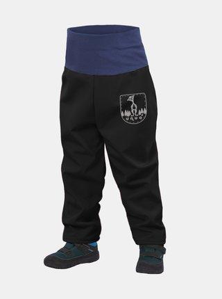 Čierne chlapčenské softshellové nohavice Unuo