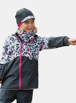 Šedá dievčenská softshellová bunda Unuo