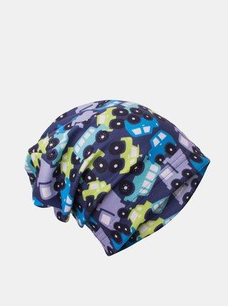 Modrá chlapčenská fleecová čiapka Unuo