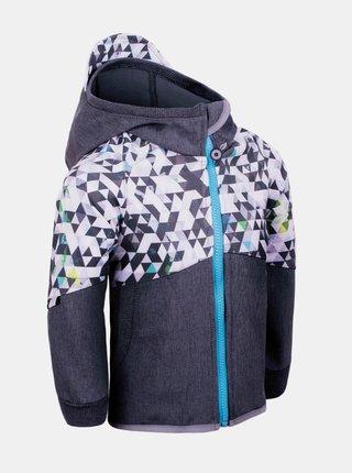 Šedá chlapčenská softshellová bunda Unuo