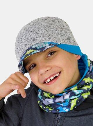Modrý chlapčenský fleecový nákrčník Unuo