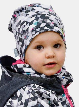 Šedý holčičí fleecový nákrčník Unuo