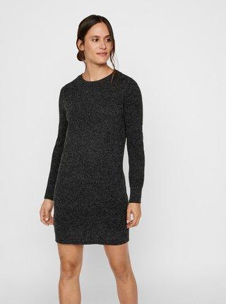Čierne svetrové šaty VERO MODA Doffy