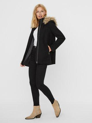 Černá vlněná bunda VERO MODA Collar York