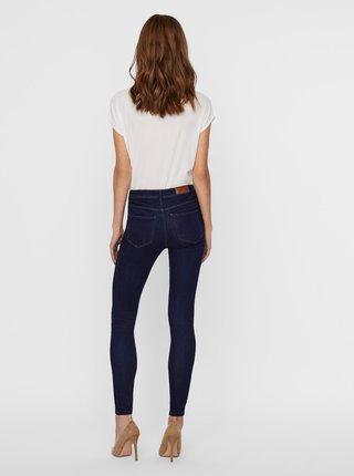 Tmavě modré skinny fit džíny VERO MODA Tanya