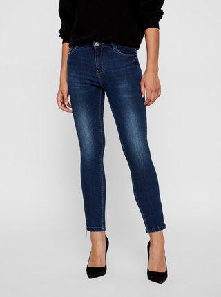 Tmavě modré skinny fit džíny Noisy May